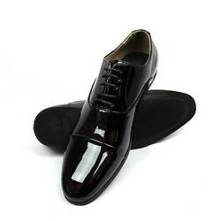 Mens Dress Tuxedo Formal Shoes Cap Toe Patent Leather Lace Up Oxfords By AZAR $39.99