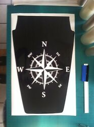 Compass rose Hood Decal for Jeep military large Wrangler graphics blackout v12