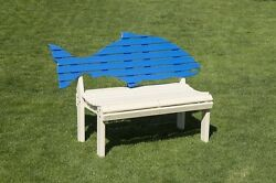 Poly Fish Back Adirondack Bench - Outdoor - Commercial - Amish Made in USA