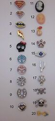 BUY 5GET 10 FREE! Miscellaneous Batmanetc Floating Charms for Glass Lockets US