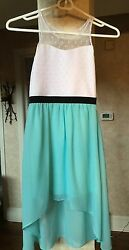 Sally Miller Designer Girls Spring Summer High Low Length Dressy Dress Size 7 8