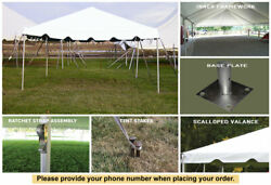 15x40 White Vinyl Classic Frame Tent for Wedding Outdoors Event Party Catering