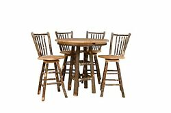 Rustic Hickory BAR Height 36