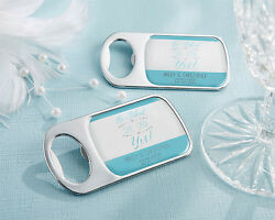 He Asked She Said Yes! Personalized Bottle Opener Bridal Shower Party Favor Gift