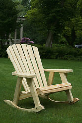 Pressure Treated Pine Unfinished Adirondack Rocking Chair Amish Made USA