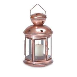 12 lot COPPER COLONIAL WESTERN LANTERN CANDLE HOLDER WEDDING CENTERPIECES NEW