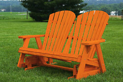4 Foot Pressure Treated Pine Adirondack Glider Amish Made USA -True Cedar Stain