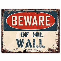 PP4008 Beware of MR. WALL Plate Chic Sign Home Store Wall Decor Funny Gift $19.95
