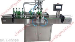 2 heads Automatic liquid filling machine  with conveyor PLC control by sea
