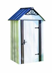 Arrow Designer Hot Dipped Galvanized Steel Shed  4' W  x 2' L  With swing doors