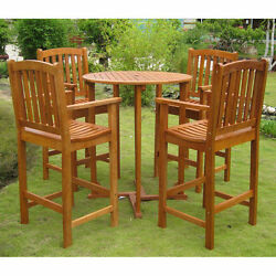 Bar Height Patio Set Dining Breakfast Pub Kitchen Table Chairs Bistro Furniture