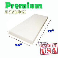 High Density Seat Upholstery Foam Cushion Replacement Per Sheet 24quot; x 72quot; USA $29.99