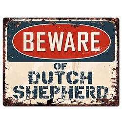 PPDG0017 Beware of DUTCH SHEPHERD Plate Rustic Chic Sign Decor Gift $19.95