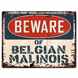 PPDG0020 Beware of BELGIAN MALINOIS Plate Rustic Chic Sign Decor Gift $19.95