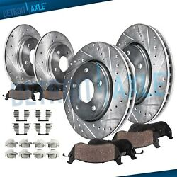 Front Rear Drilled Slotted Rotors Ceramic Brake Pads for 2007-2012 NISSAN ALTIMA $123.25