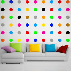 12x Large Polka Dot Wall Vinyl Decal Stickers For Wall Kids Nursery Hallway Baby GBP 3.99