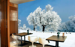 3D White trees snow 20944 Wall Paper Wall Print Decal WallDeco AJ WALLPAPER