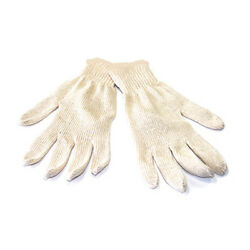 48 Pairs Natural White Cotton String Knit Gloves - Size Large