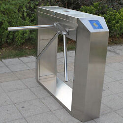 Semi-Auto Waist High Tripod Turnstile Intelligent Access Door 304 Stainless 3Arm