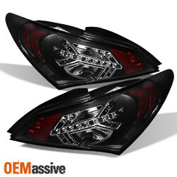 Fits 2010-2012 Genesis Coupe Black Philips Lumileds LED Tail Lights Brake Lamps $186.96