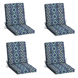 Patio Cushion Set Garden Yard Outdoor Dining Chair Replacement Furniture 2 Pack