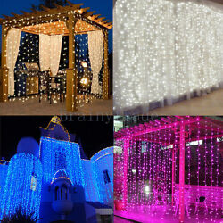 1800 LED Fairy Curtain String light for Xmas Christmas Wedding Party Connectable $18.99