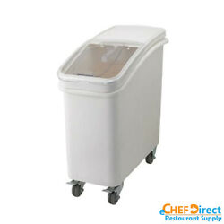 Commercial White Ingredient Bin with Casters 21 Gallon