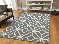 Gray Rugs 8x10 Contemporary Diamond Patterned Moroccan Geometric Grey Area Rug 5 $89.94