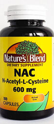 Nature#x27;s Blend NAC N Acetyl L Cysteine 600mg 100ct Capsules Exp 05 2023 $11.99
