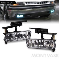 Fit For Chevy Silverado Tahoe Suburban Escalade Front Fog Lights Crystal Clear