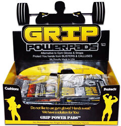 Gym Gloves PRO GRIP POWER PADS® Lifting Grips Workout Gloves Grip Pad $19.95