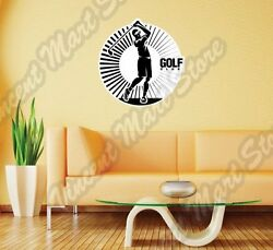Golf Club Ball Course Outdoor Sport Wall Sticker Interior Decor 22