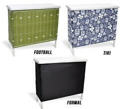 Replacement Skirt for GoBar Portable Bar Skirt Only Black Tiki or Football $9.99
