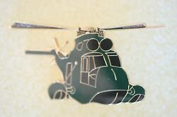 US USA CH 3 Sea King Helicopter Large Military Hat Lapel Pin $7.99