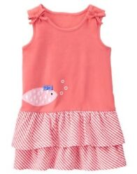 Gymboree Tropical Breeze Coral Fish Knit Dress Infant Baby Girl 18-24 Months NEW