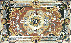 Renaissance Classy Majestic Indoor Outdoor Carpet Home Marble Mosaic CR517