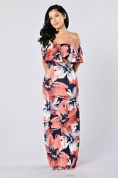 Women Sexy boat neck off should ruffles floral bodycon club cocktail party dress $16.78