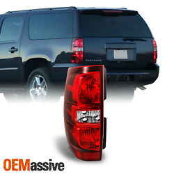 Fits 2007-2014 Tahoe Suburban Red Clear Driver/Left Side Tail Lights Replacement $48.99