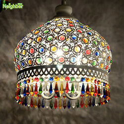 New Colorful Blue Crystal Ceiling Light Pendant Lamp Fixture Lighting Chandelier $199.99