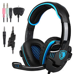 Sades SA-708GT Stereo Gaming Headphones Headset Headband with MIC for PC Laptop $21.98