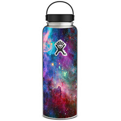 Skin Decal for Hydro Flask 40 oz Wide Mouth  Colorful Space Gasses