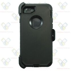 Black For Apple iPhone 7 Heavy Duty Protective Case Cover w Belt Clip amp; Screen $8.99