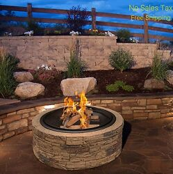 Stone Fire Pit Wood Burning Round Firepit Fireplace Outdoor Patio Heater On Sale
