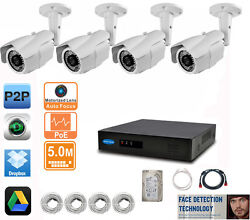 4 x 5MP 2.8 12mm Motorized IP Camera 8CH 5MP FACE DETECTION NVR 2TB HD IP System $949.99