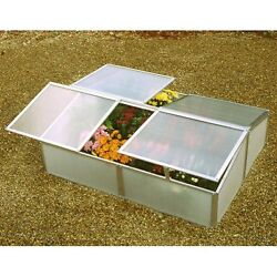 Double Cold Frame Twinwall Adjustable Plastic Planter Portable Mini Greenhouse