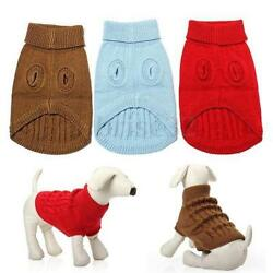 Dog Pet Winter Warm Sweater Knitwear Puppy Outwear Apparel More Size And Color $7.99