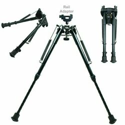 9quot; to 13quot; Adjustable Spring Return Sniper Hunting Rifle Bipod with Rail Adapter $23.95