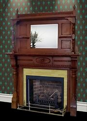 Fireplace Mantel  Surround - circa 1860 Pre Civil War All Wood