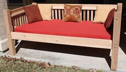 NEW ALL CEDAR TRADITIONAL PATIO OUTDOOR DAYBED - QUEEN WITH 5