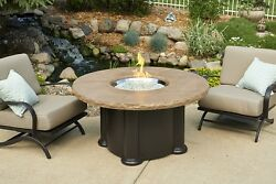 Outdoor GreatRoom Coffee Table with Fire Pit COLONIAL-48-M-K